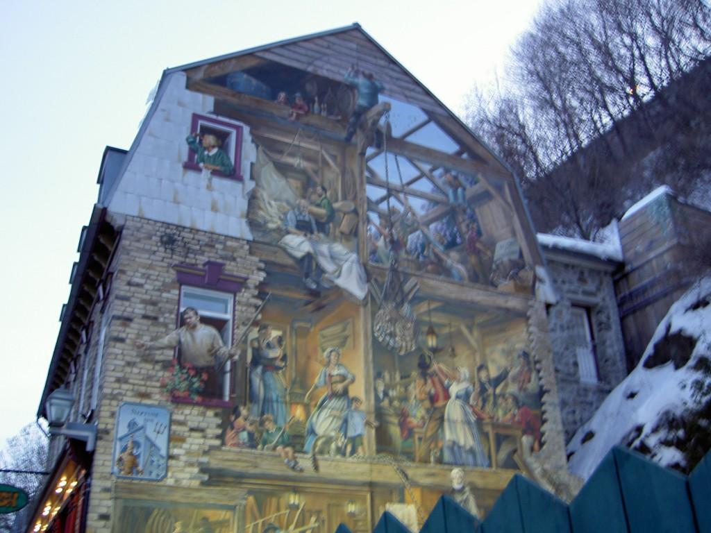 Mural in Quebec City